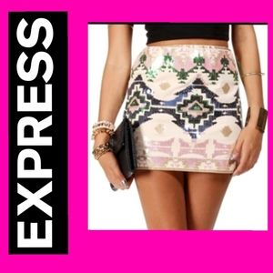 Express Southwest pattern sequin mini